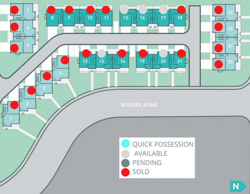 The Landing Available Homes Site Map